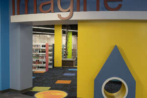 This is the children's area of the renovated downtown branch of the Midland County Public Library. County commissioners have named it the Library at the Plaza.