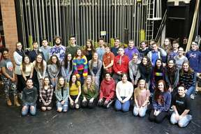 "The cast of the production of ""Newsies"" at Ballston Spa High School."