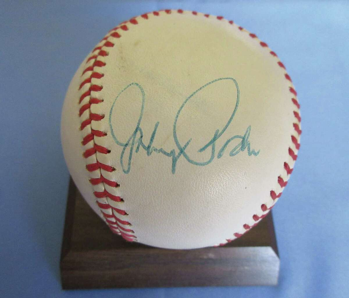 Baseball signed by Brooklyn/Los Angeles Dodger Johnny Podres for Ed Palmer, the author's father. (Merry Lee Kraft)