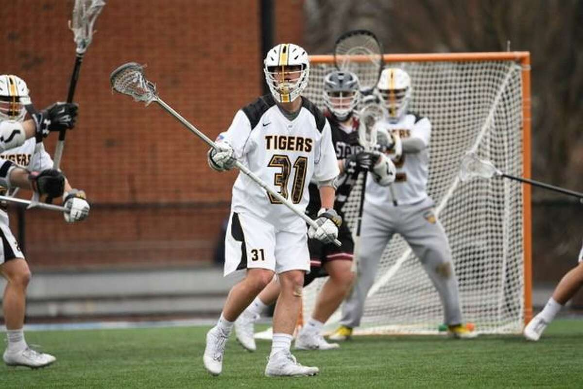 Colorado College's Billy Hutchison, a sophomore long-stick midfielder.