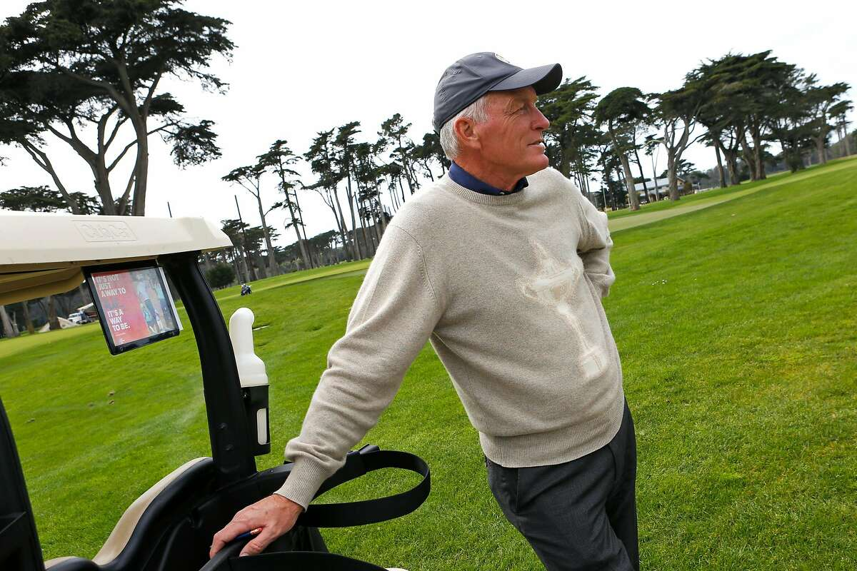 Kerry Haigh, PGA of America�s chief championships officer, inspects the course and watches golfers at TPC Harding Park on Tuesday, March 26, 2019, in San Francisco, Calif. The PGA Championship will be held at the golf course in May 2020. Haigh is responsible for the overall operation, administration and golf course setup for the championship.