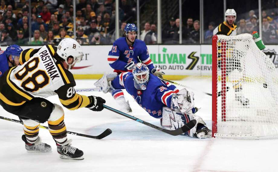 Pastrnak Bruins Put Away Rangers Times Union
