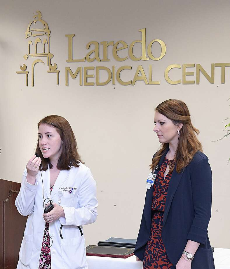Grace McNutt, program director for the Internal Medicine Residency Program, and Melissa Jacaman, assistant program director for the Family Medicine Residency Program of the University of the Incarnate Word School of Medicine, were among the presenters at a luncheon Wednesday at LMC. Photo: Cuate Santos /Laredo Morning Times / Laredo Morning Times
