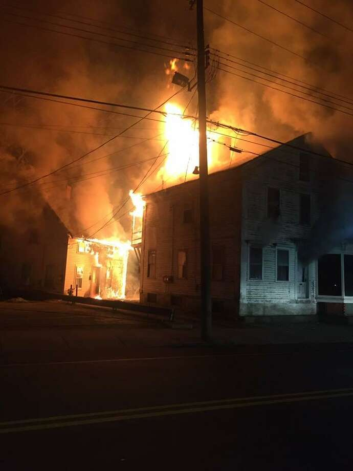 South Killingly firefighters battlled a fire on Main Street in the Killingly section of Danielson on Thursday, March 28, 2019. Photo: South Killingly Fire Department Photo