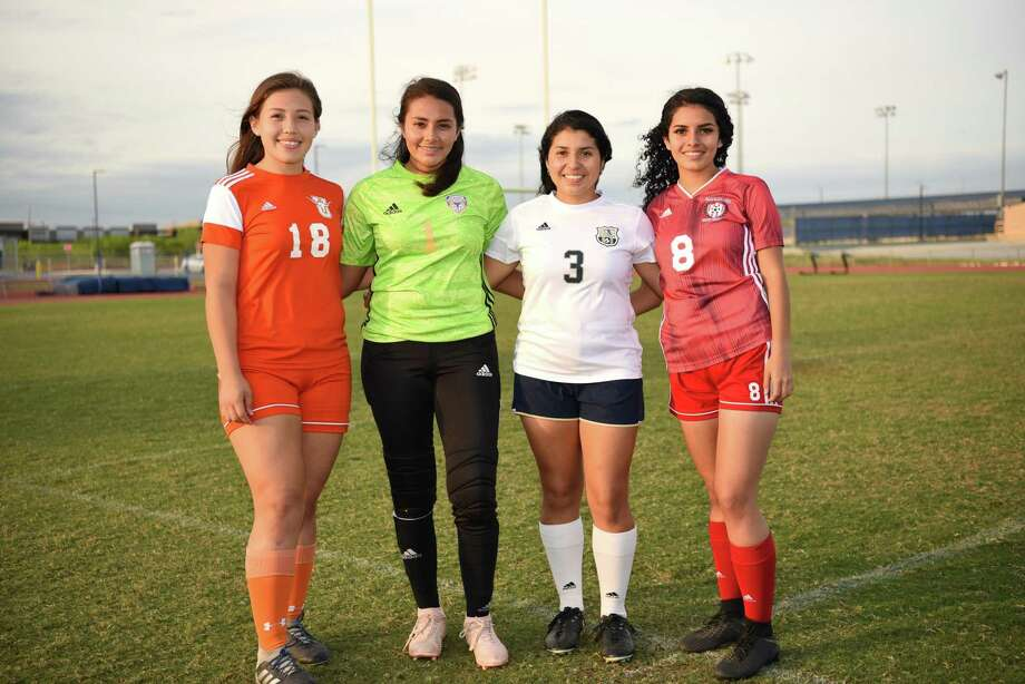 United's Jessica Duarte, LBJ's Alicia Huerta, Alexander's Marina Saldivar and Martin's Adriana Reyes are preparing to lead their teams into the postseason as the first round begins this weekend. LBJ opens Thursday while the rest of the squads play Friday. Photo: Christian Alejandro Ocampo /Laredo Morning Times / Laredo Morning Times