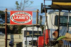 Lajoie's scrap metal on Central Avenue in Bridgeport.