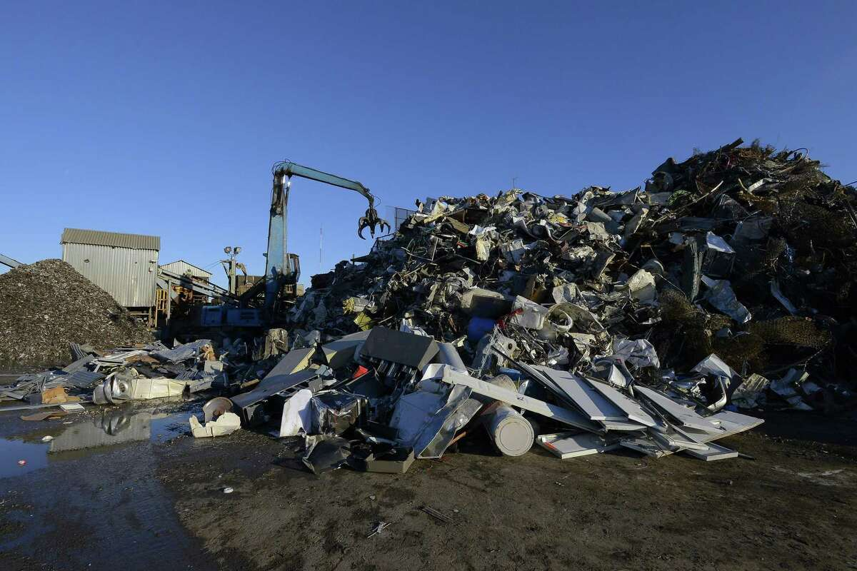Piles of unsorted metal, photographed on Dec. 30, 2016 at Rubino Brothers Scrap Iron and Metal in Stamford Connecticut.
