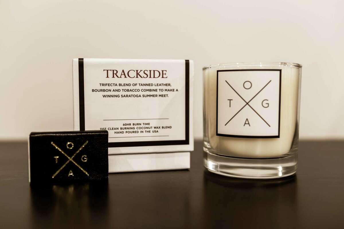 TOGA Heritage's Trackside candle. (Photo by Katie Dobies Photography)
