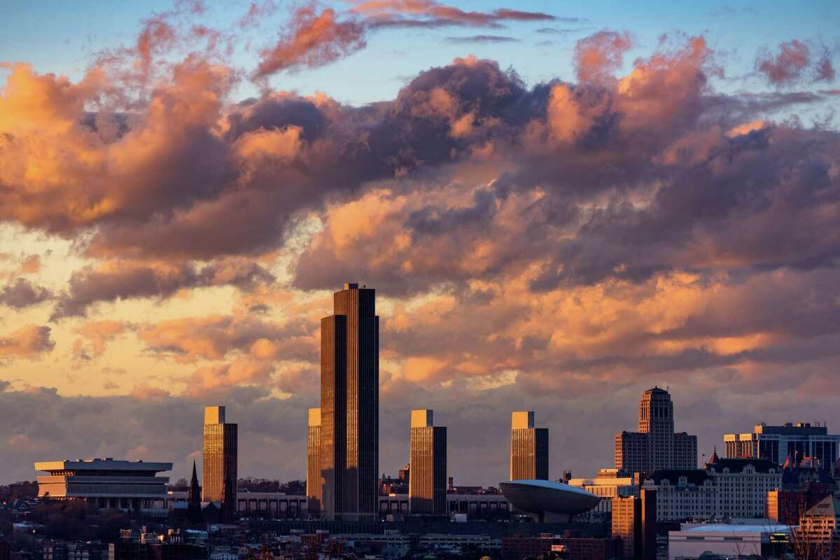 Our winning image for this Upstate photo contest: Brad Wenskoski's image of the Albany skyline. (Provided)