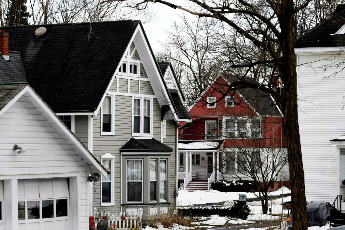 Beautiful historic homes line Brookside Avenue on Monday, March 11, 2019, in Menands, N.Y. (Will Waldron/Times Union)