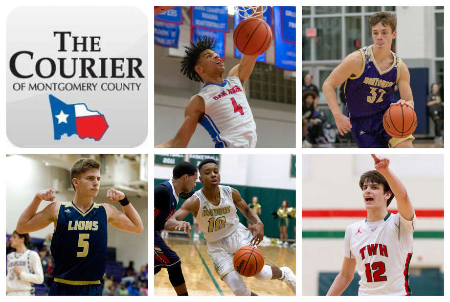 Oak Ridge's Griffin Datcher, Montgomery's Elijah Schleicher, Lake Creek's Pierce Spencer, TWCA's Bakari LaStrap and The Woodlands' Charlie Zorn are The Courier's nominees for Offensive MVP. Photo: Staff Photos