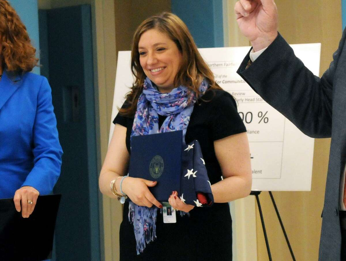 Monica Bevilacqua in May 2014,after Head Start of Northern Fairfield County aced its federal review.