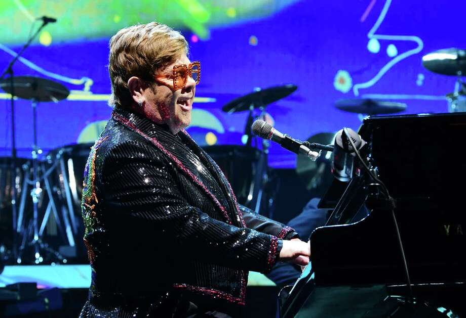 "Elton John performs ""Bennie and the Jets"" during his ""Farewell Yellow Brick Road"" tour at the Times Union Center on Friday, Feb. 29, 2019 in Albany, N.Y. (Lori Van Buren/Times Union) Photo: Lori Van Buren / 40046333A"
