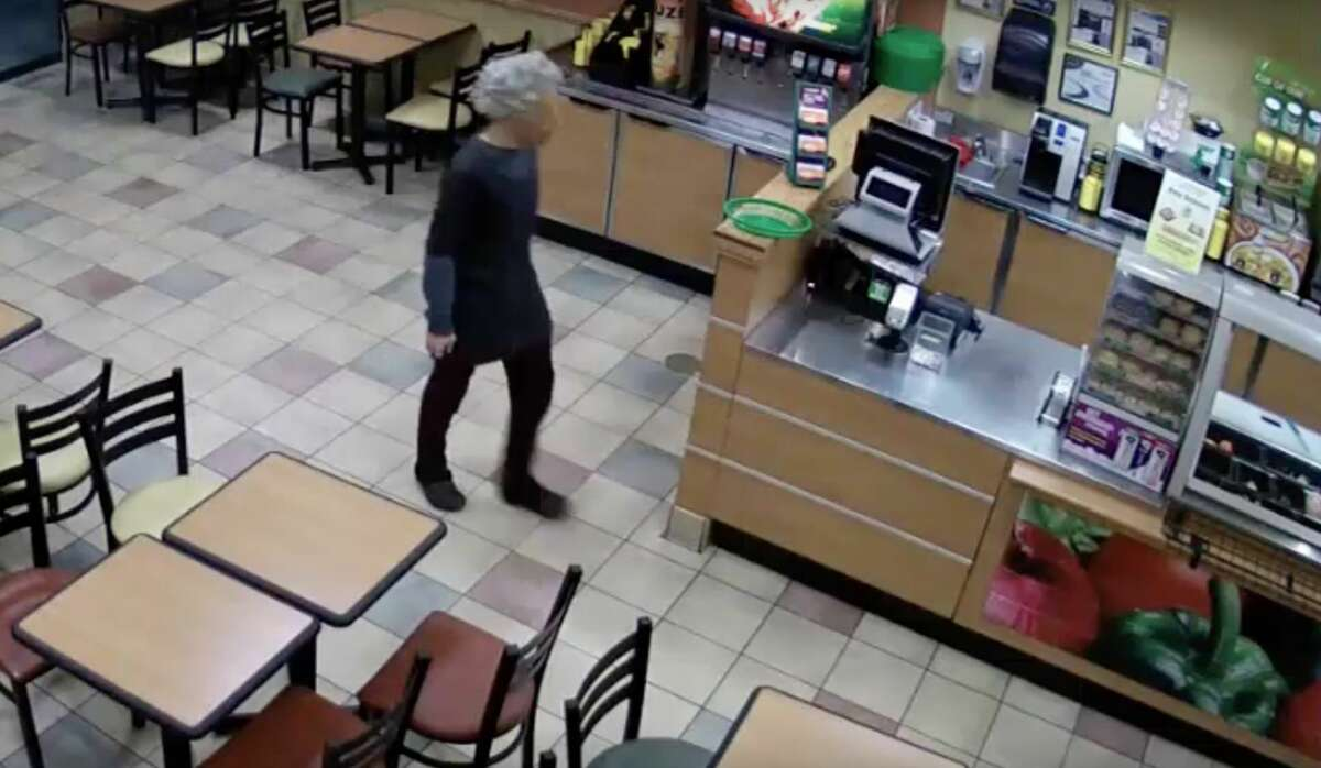 The suspect walked into the Subway location in the 14000 block of the Northwest Freeway shortly before 9 p.m., police said.