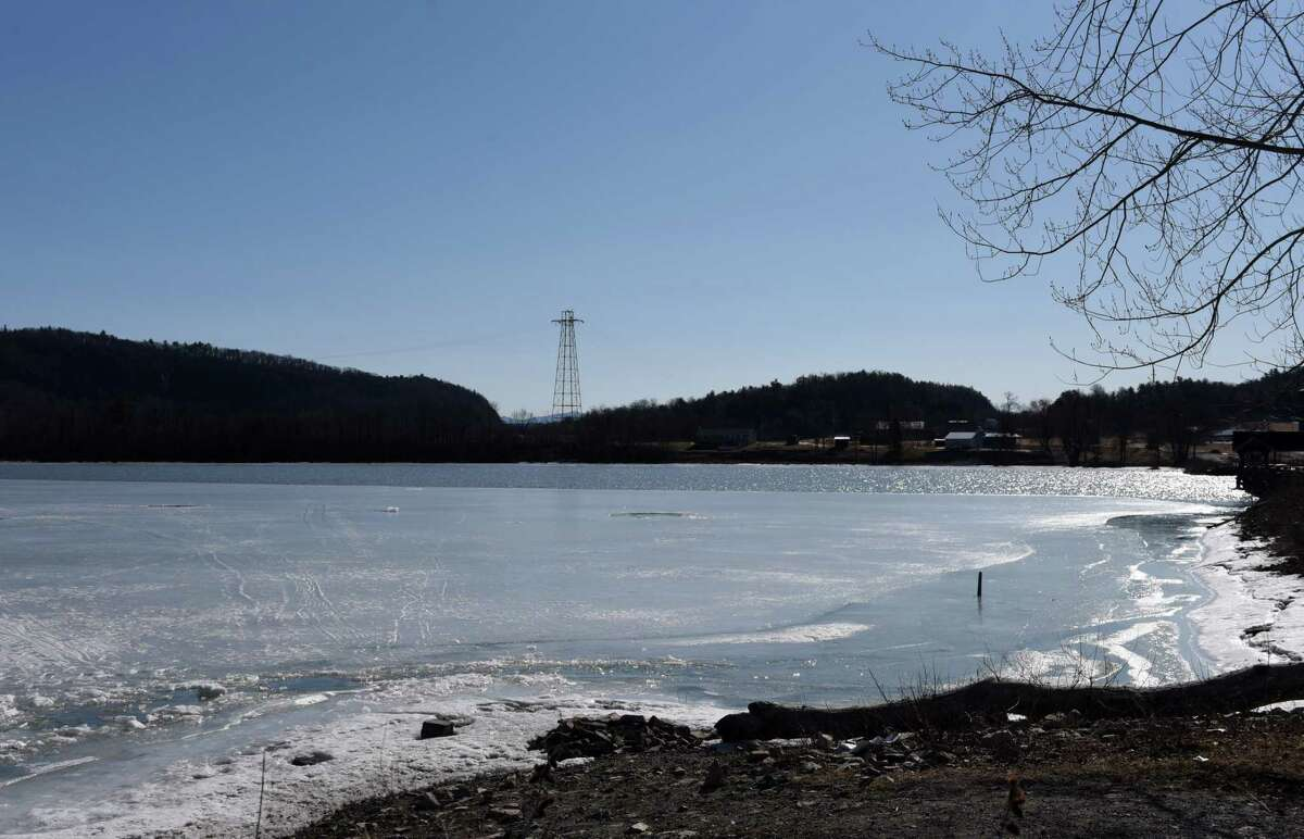 A view of Lake Champlain. State Police said a body was found inside a vehicle Wednesdaythat broke through the ice Tuesday night. (Will Waldron / Times Union)