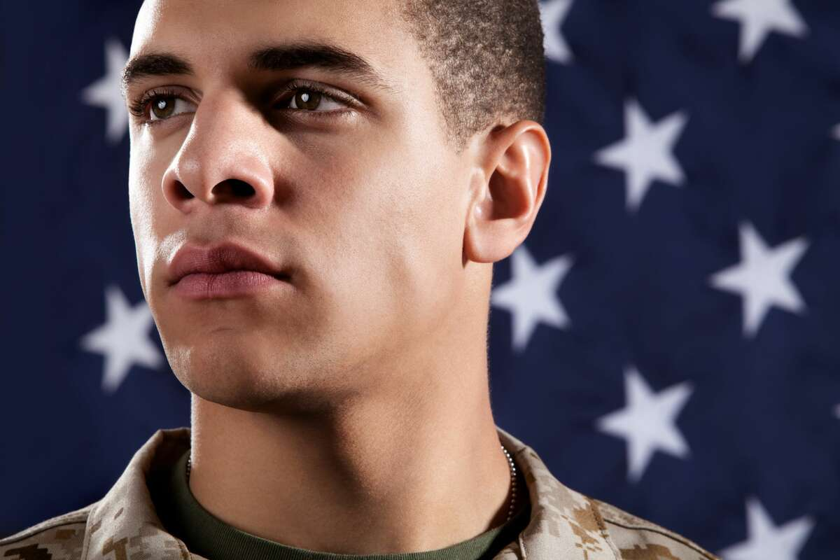 A young man dreams of joining the US Marines.
