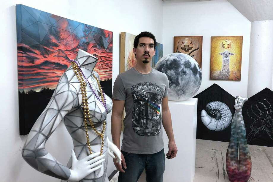 The Glow Ball will celebrate and support the arts in Houston and feature four working artists, including Vincent Fink, who works from his space in Winter Studios. While he has started getting back into animation, he usually paints and draws. Photo: Courtesy Photo