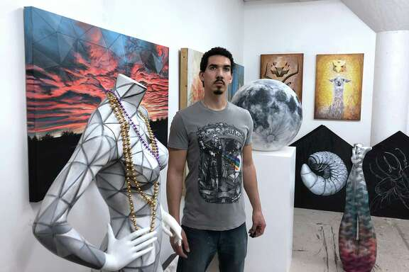 The Glow Ball will celebrate and support the arts in Houston and feature four working artists, including Vincent Fink, who works from his space in Winter Studios. While he has started getting back into animation, he usually paints and draws.
