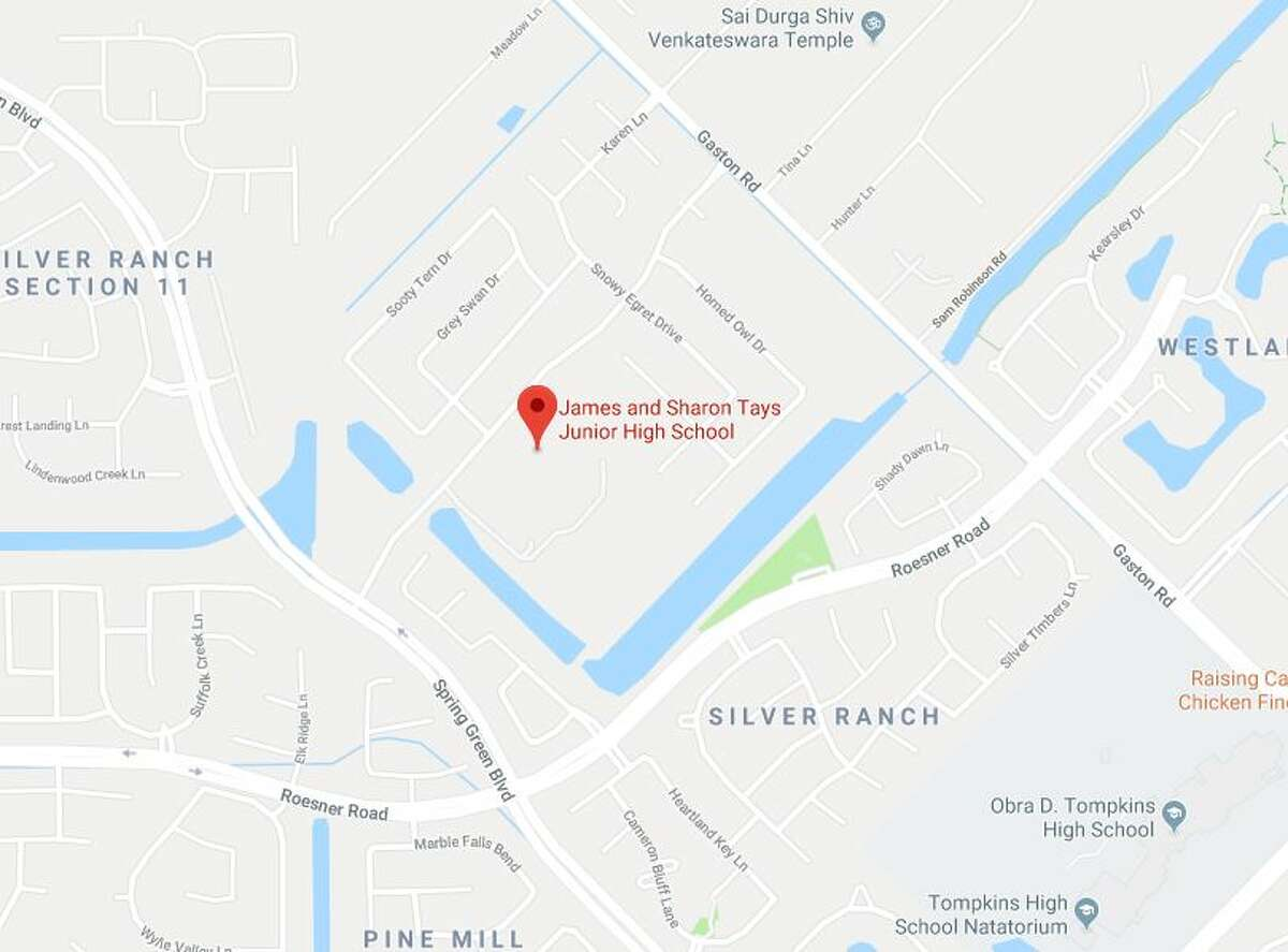 According to a Katy ISD news release, students at Tays Junior High School reported a suspicious male was seen taking photos near a school bus stop in the 4800 block of Oak Rambling at Pleasant Forest Drive.