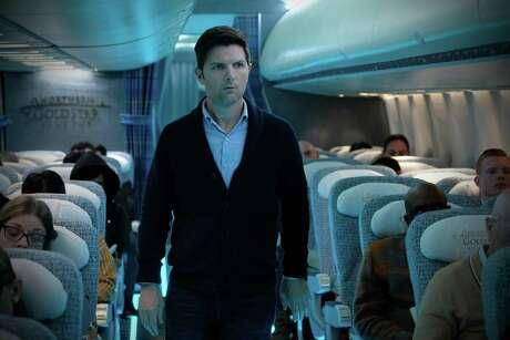 "Adam Scott stars in the ""Twilight Zone"" episode ""Nightmare at 30,000 Feet."""