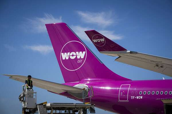 (FILES) A file picture taken on August 6, 2018 shows an aircraft of Icelandic low-cost airline WOW Air on the tarmac of Roissy-Charles de Gaulle Airport, north of Paris. - Icelandic low-cost airline WOW Air, in difficult financial position, announced on March 28, 2019 that it will cease operations and cancel all flights, a decision that is expected to affect thousands of passengers. (Photo by JOEL SAGET / AFP)JOEL SAGET/AFP/Getty Images