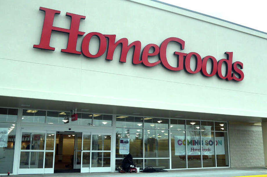 Signage is already in place for the new HomeGoods discount home furnishing store, located at 2222 Troy Road in the Edwardsville Marketplace. The store will have its grand opening on April 28. Photo: Scott Marion | The Intelligencer