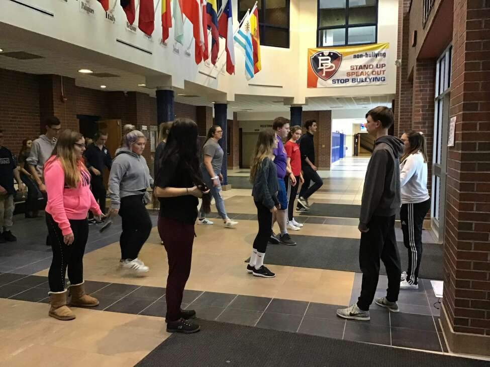 Rehearsals for the Broadalbin-Perth High School production of