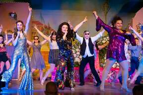 "Rehearsals for the Scotia-Glenville High School production of ""Mamma Mia!"""