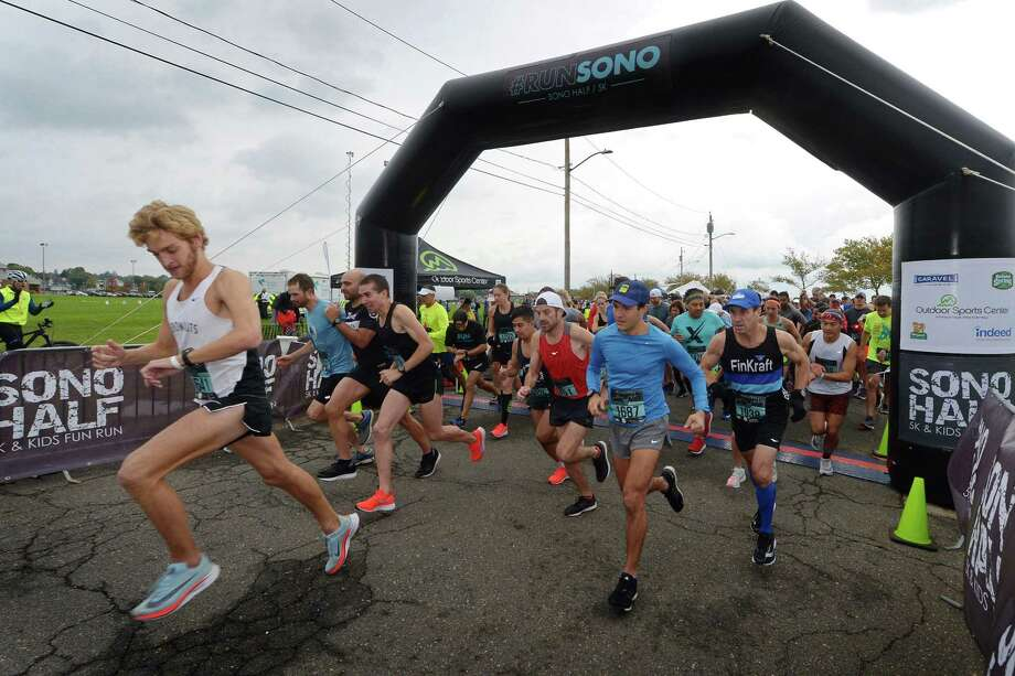 Participants start the half marathon portion of the SONO Half Marathon and 5k Saturday, October 20, 2018, in Norwalk, Conn. A new route for the race was officially approved by the Traffic Authority on Wednesday, March 27, 2019. Photo: Erik Trautmann / Hearst Connecticut Media / Norwalk Hour