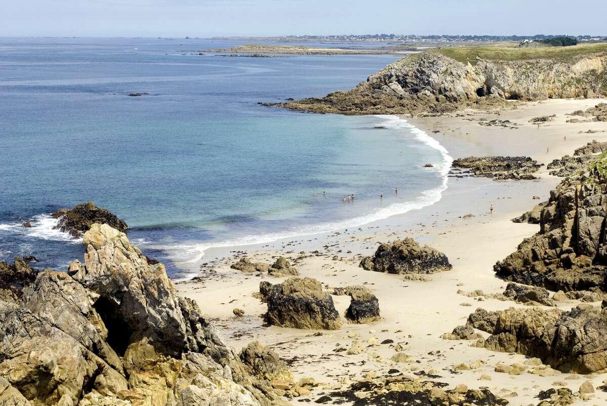 A beach in Plouarzel in France.