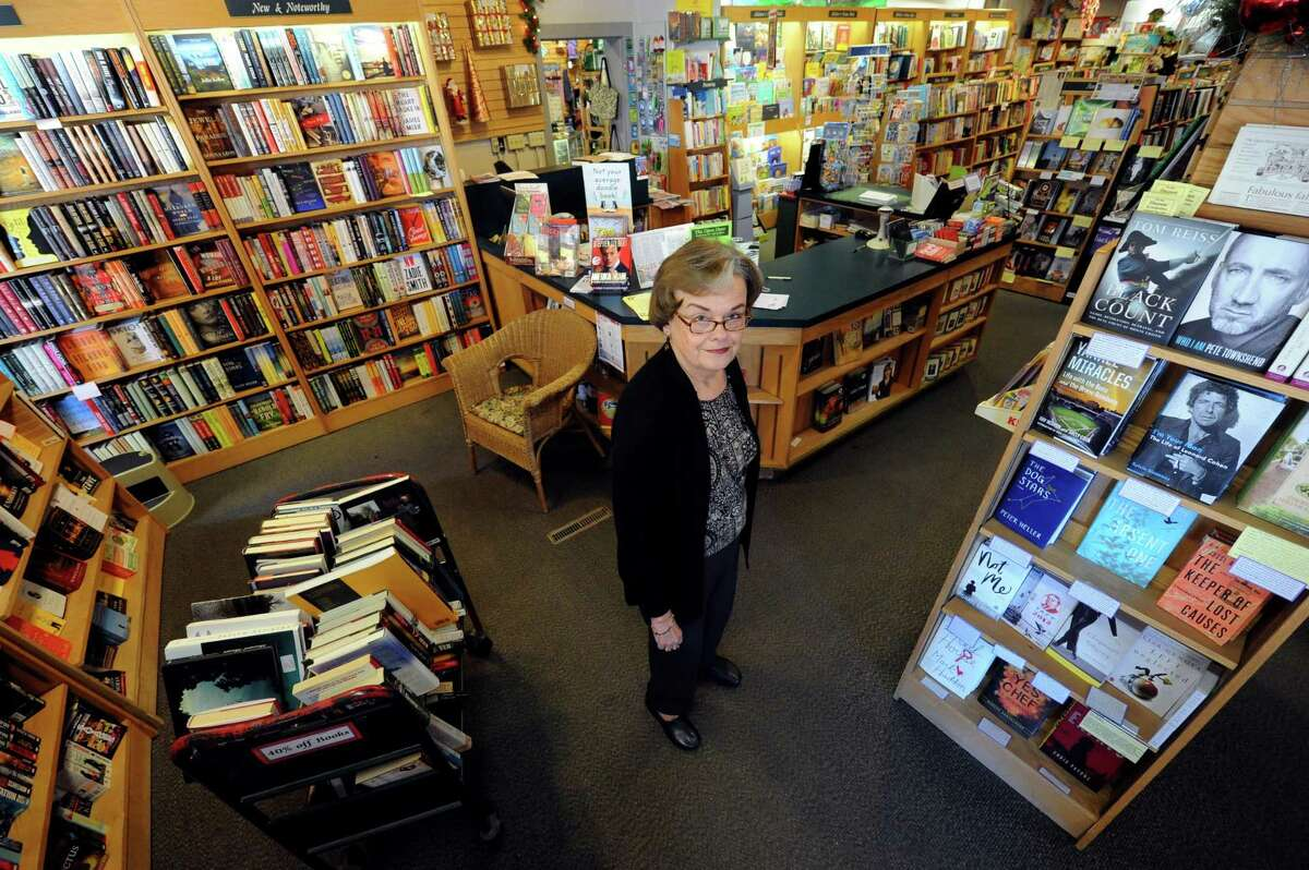 Janet Hutchison at the Open Door Bookstore on Jay Street in Schenectady, NY Thursday Oct. 11, 2012. (Michael P. Farrell/Times Union)