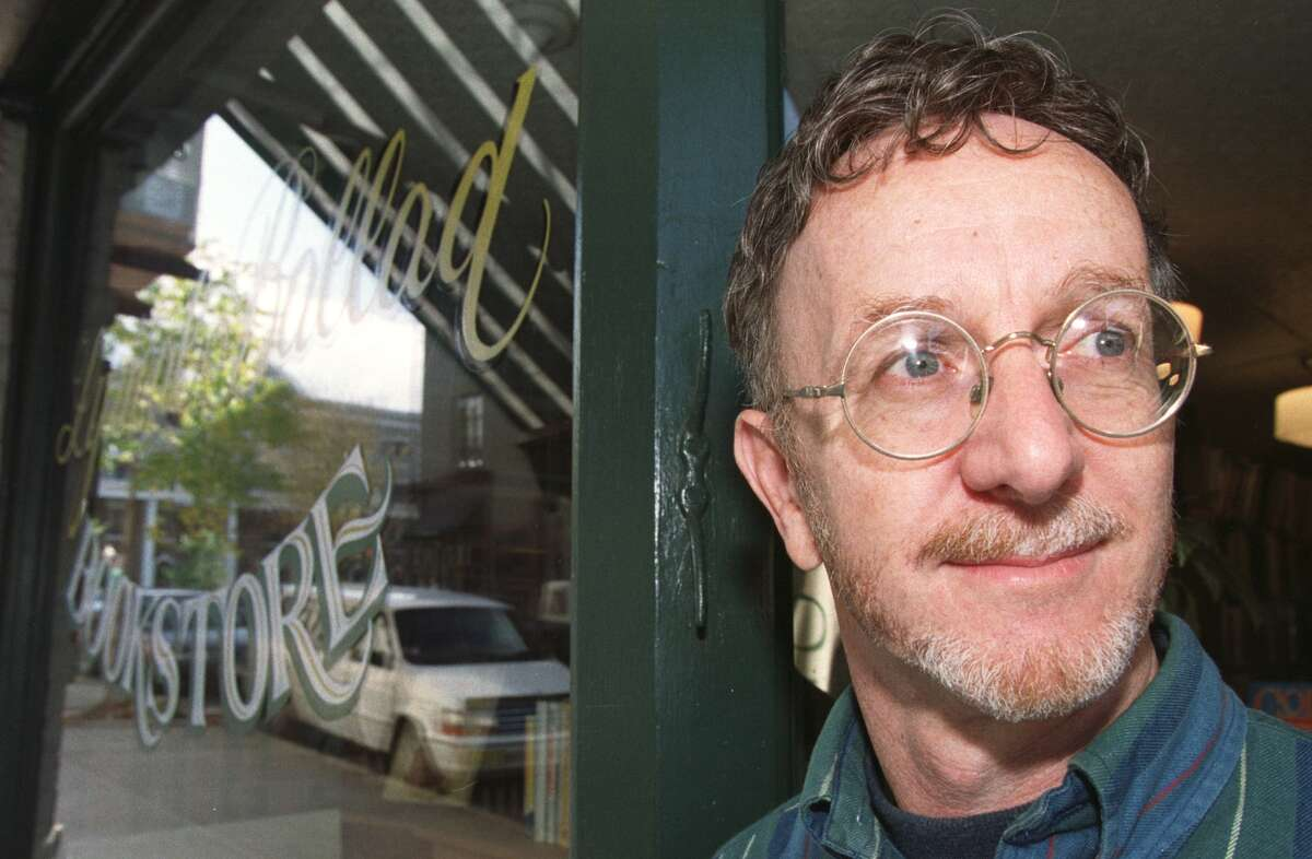 John DeMarco of the Lyrical Ballad bookstore in Saratoga Springs, 1999. Times Union Staff Photo by Skip Dickstein