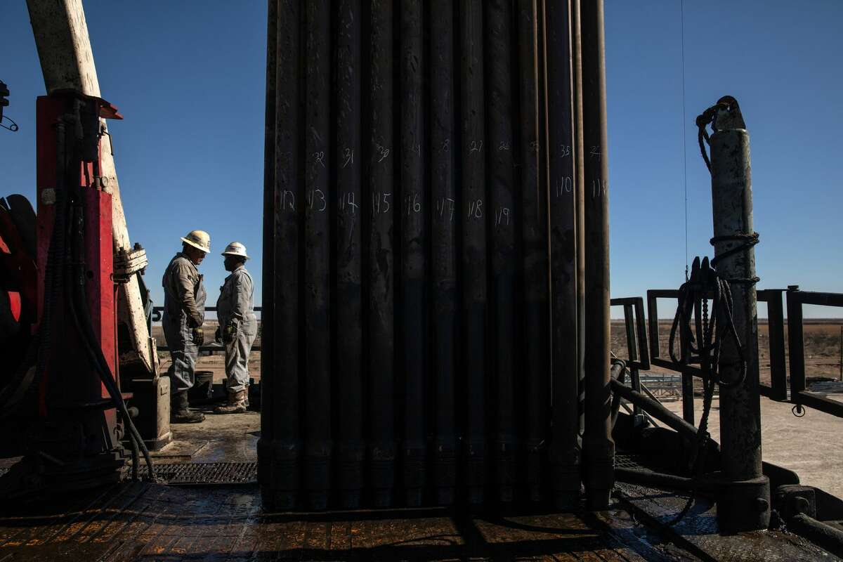 A drilling rig works on Parsley Energy property near Midland. Wall Street's new focus on shareholder returns could force operators to ramp down drilling activity to within their cash flow, having a significant impact on oilfield activity and employment. (Tamir Kalifa/The New York Times)