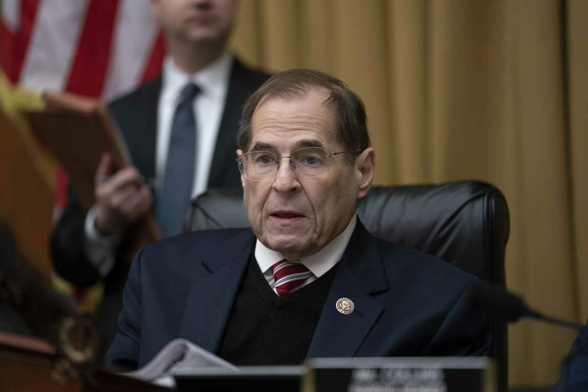 House Judiciary Committee Chairman Jerrold Nadler, D-N.Y., presides at a meeting directing the attorney general to transmit documents to the House of Representatives relating to the actions of former Acting FBI Director Andrew McCabe March 26. A reader says Trump should take responsibility for what the country is going through.