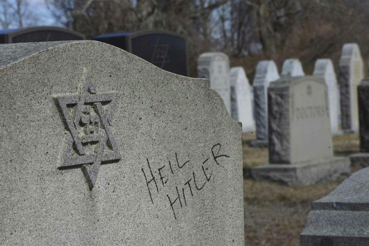Gravestones at a Jewish cemetery in Massachusetts were vandalized with anti-Semitic graffiti.