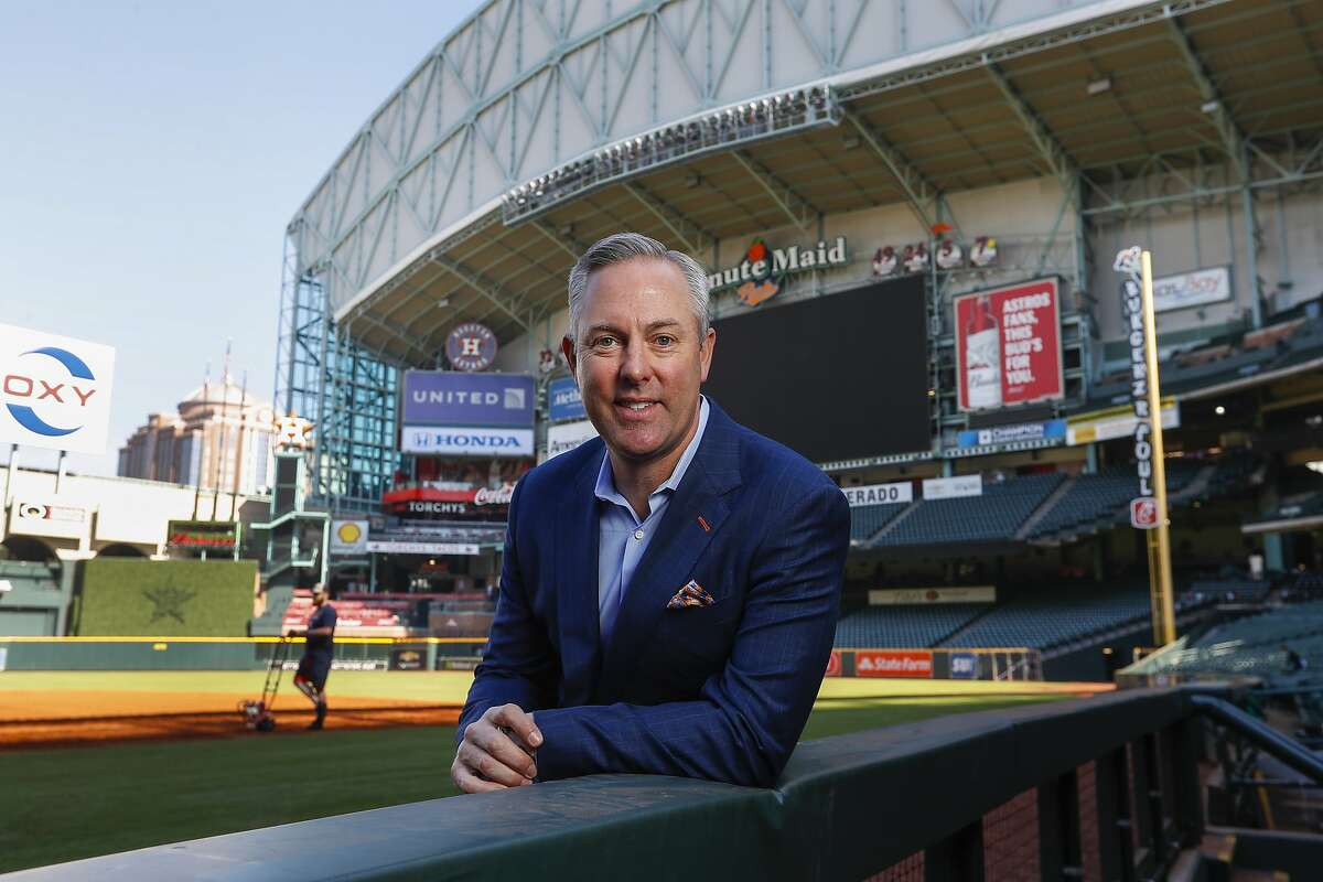 Houston Astros president Reid Ryan stands inside of Minute Maid Park, Wednesday, March 20, 2019, in Houston.