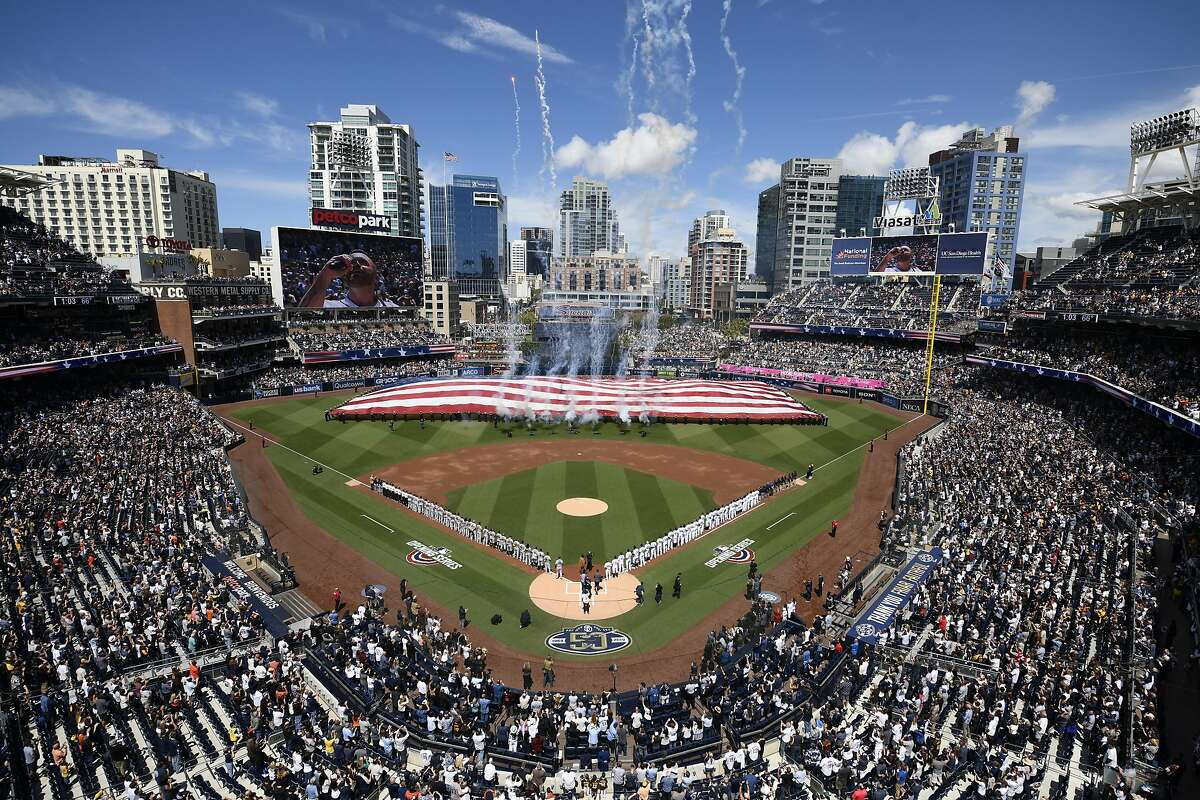 FILE: A general view before the game at Petco Park March 28, 2019 in San Diego.