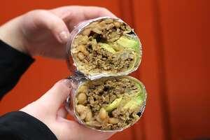 The pastor super burrito from El Farolito.