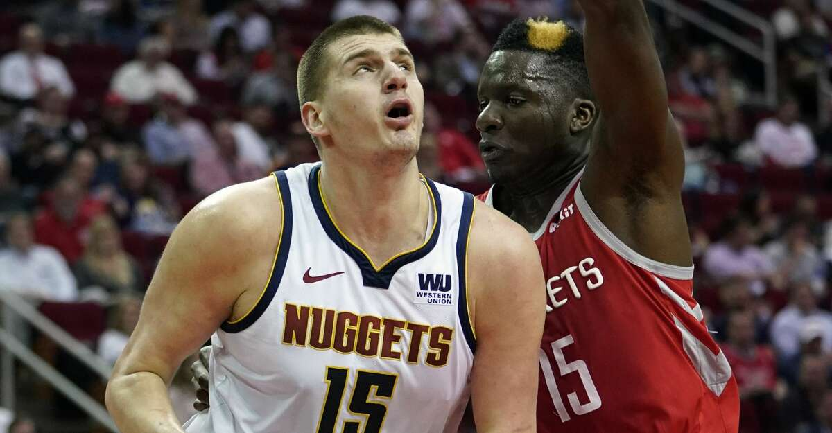 PHOTOS: Rockets game-by-game Denver Nuggets' Nikola Jokic, left, looks to shoot as Houston Rockets' Clint Capela defends during the first half of an NBA basketball game Thursday, March 28, 2019, in Houston. (AP Photo/David J. Phillip) Browse through the photos to see how the Rockets have fared in each game this season.
