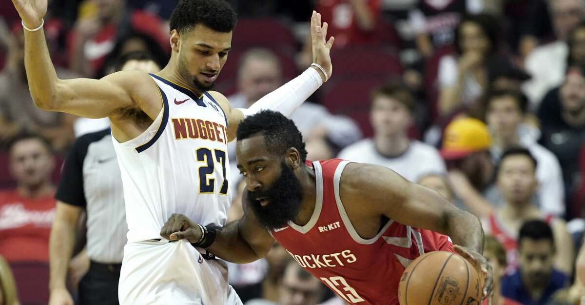 PHOTOS: Rockets game-by-game Houston Rockets' James Harden (13) tries to drive around Denver Nuggets' Jamal Murray (27) during the first half of an NBA basketball game Thursday, March 28, 2019, in Houston. (AP Photo/David J. Phillip) Browse through the photos to see how the Rockets have fared in each game this season.