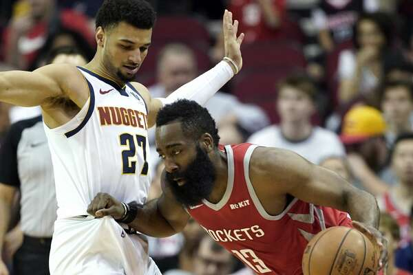 7095c6febc10 Nuggets throw multiple defenses at Rockets  James Harden ...