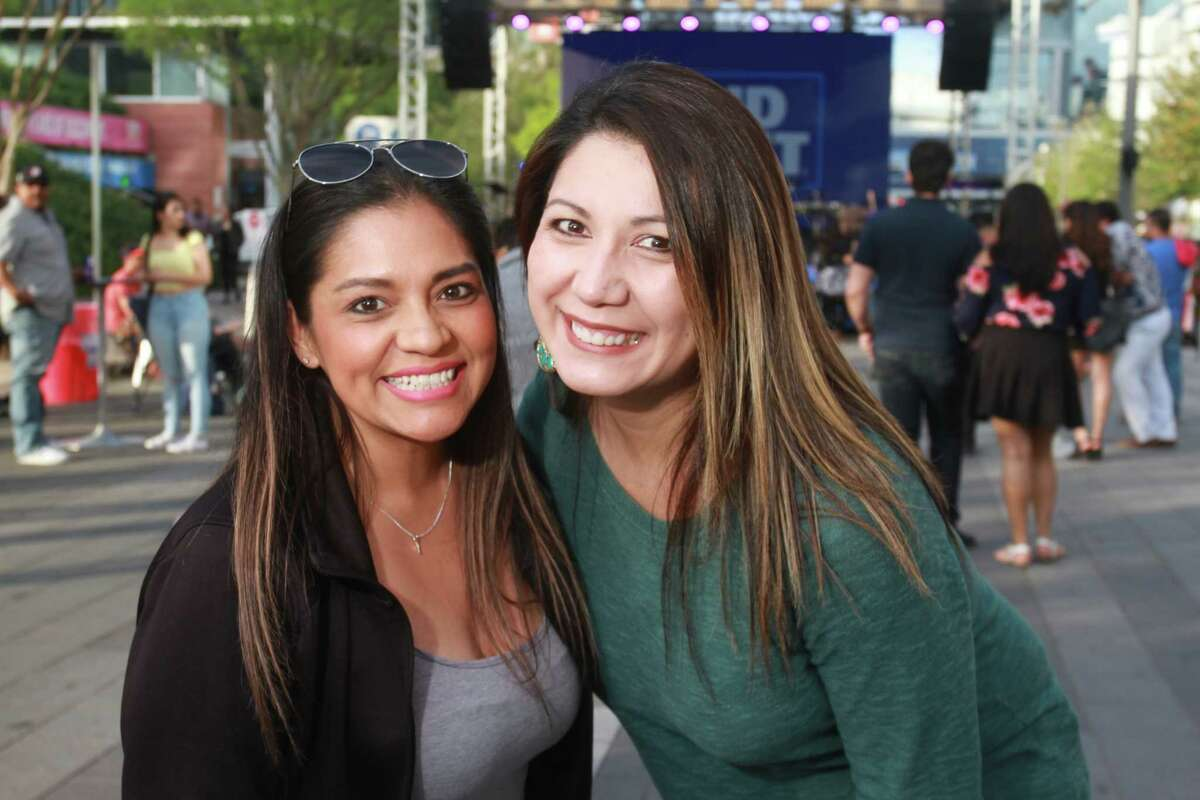 Enjoying the Party on the Plaza concert series at Avenida Houston. The Los Angeles-based Grammy-winning Mexican-American rock band, La Santa Cecilia headlined and the evening also featured the Selena tribute band, Siempre Selena.