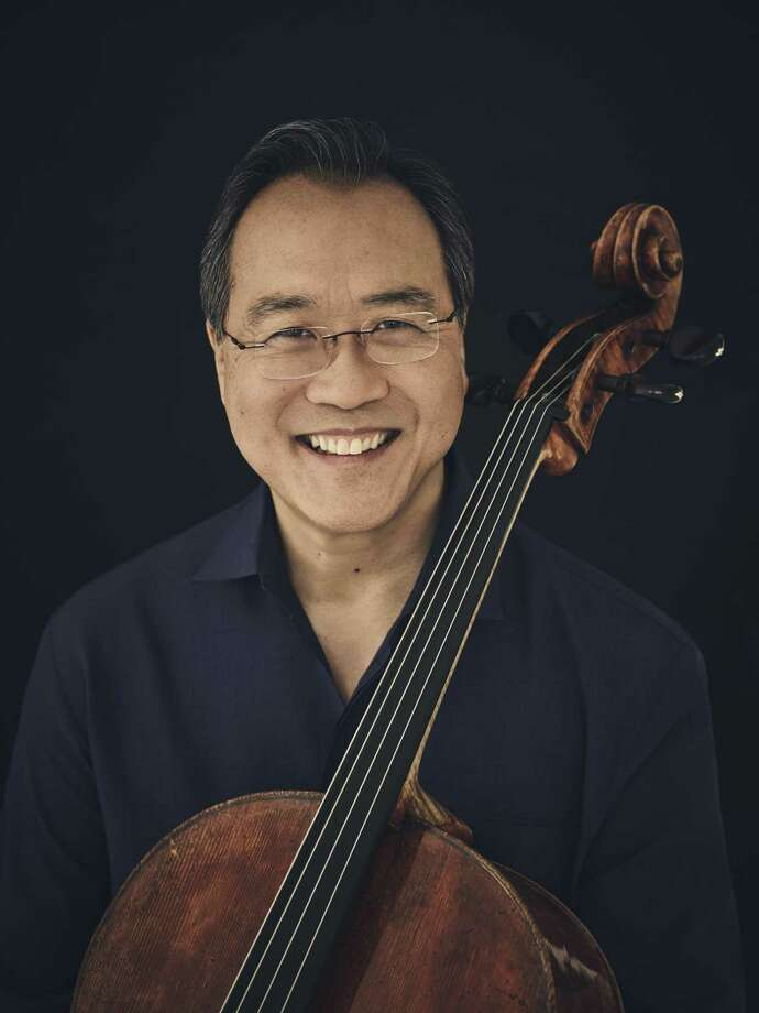 Cellist Yo-Yo Ma will play in Laredo for 15 minutes in a sparse setting: just him, a chair and a sound system. Photo: Jason Bell /