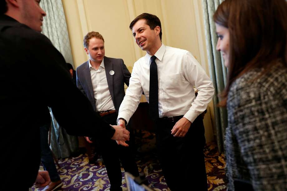 Democratic presidential candidate Mayor Pete Buttigieg at a  Commonwealth Club of California event at Marines' Memorial Club in San Francisco, Calif., on Thursday, March 28, 2019. Photo: Scott Strazzante / The Chronicle