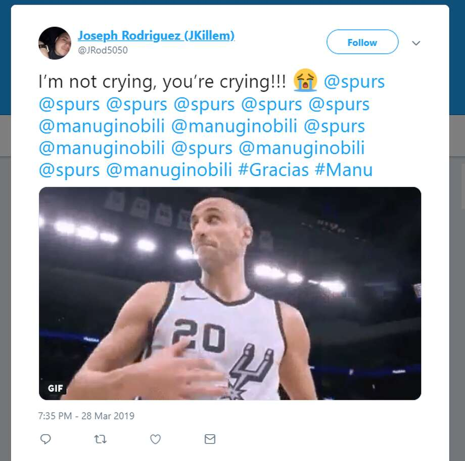 Fans shared appreciation for Manu Ginobili, shared photos of Big Three sightings during the game and Ginobili's retirement ceremony. Photo: Twitter