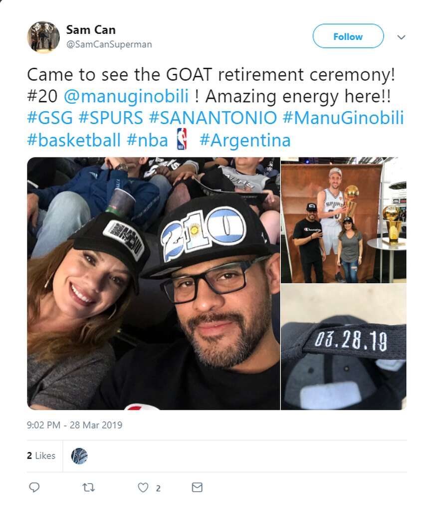 Fans shared appreciation for Manu Ginobili, shared photos of Big Three sightings during the game and Ginobili's retirement ceremony.