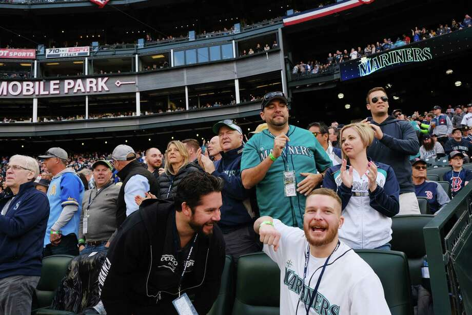 Scenes from the Seattle Mariner's home-opener against the Boston Red Sox at the newly renamed T-Mobile Park, Thursday, March, 28, 2019. Photo: Genna Martin / seattlepi.com