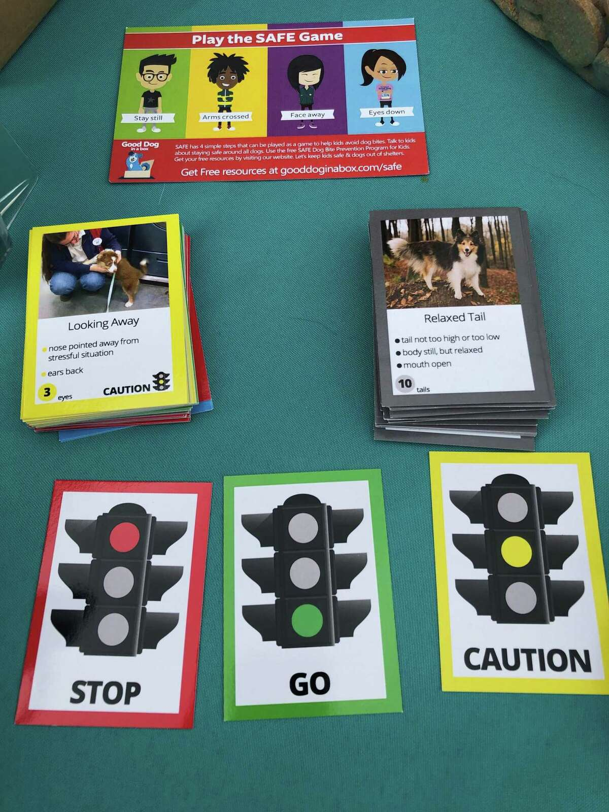 PawsAbilities incorporates a dog-safety curriculum that includes an educational card game.