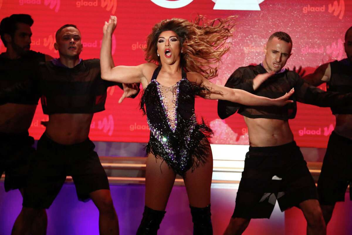 BEVERLY HILLS, CALIFORNIA - MARCH 28: Shangela performs onstage during the 30th Annual GLAAD Media Awards Los Angeles at The Beverly Hilton Hotel on March 28, 2019 in Beverly Hills, California.