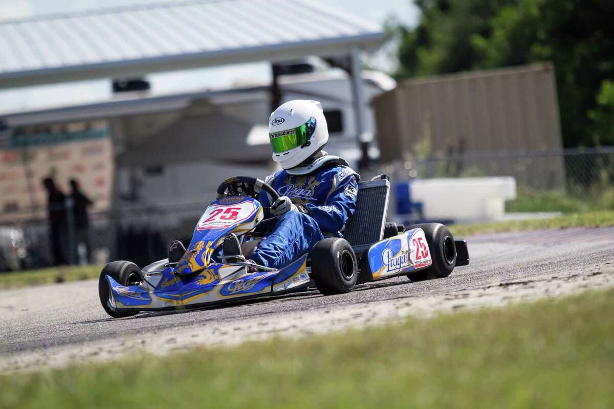 Ashutosh Rai likes racing karts for the adrenaline rush and the physical strenuousness. He often practices at Katy's Gulf Coast Karters.